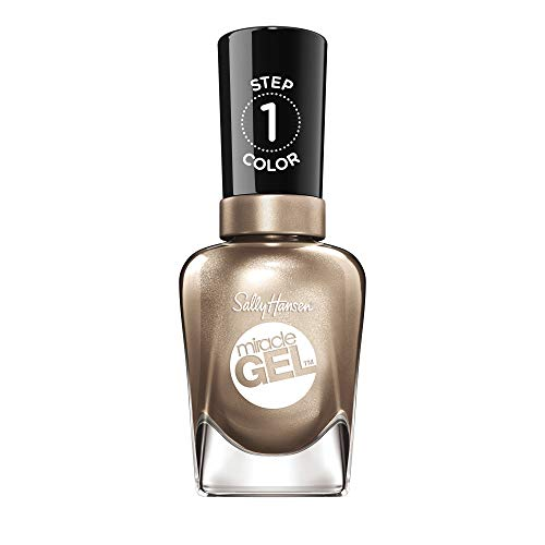 Sally Hansen Miracle Gel Nagellack ohne künstliches UV-Licht Game of Chromes, gold, mit intensiv glänzendem Gel-Finish, Nr. 510, (1 x 14,7 ml)