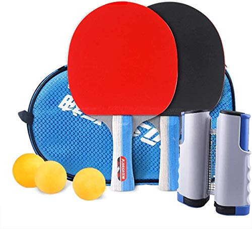 Best Review Of Pong Paddle Set Table Tennis Rackets and Balls Table Tennis Set with 2 Rackets 3 Ball...