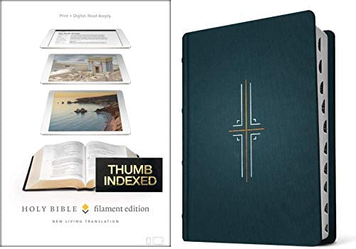 Filament Bible NLT Hardcover Cloth Midnight Blue Indexed The Print Digital Bible product image