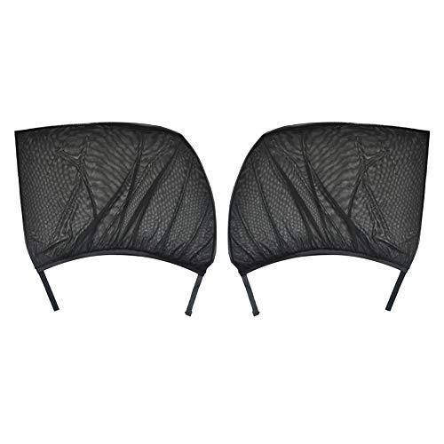 EBDS Cubierta de Malla de la Sombra del Coche, Ventana de la página Delantera y Trasera Aislamiento de la sombrilla de la sombrilla Anti Mosquito Shield Protección UV 2pcs