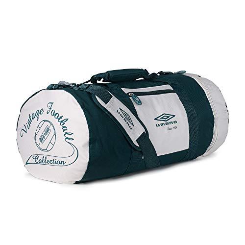 Umbro Vintage-Sporttasche für Herren und Damen., Grün - grün - Größe: 27x27x52cm