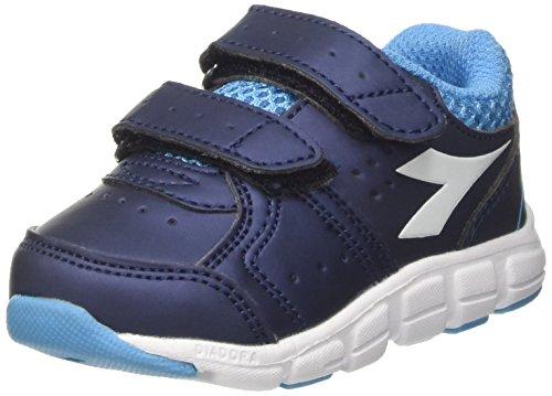 Diadora Shape 8 SL V I, Scarpe da Corsa Bambino, Blu (Blu Estate/Azzurro Cielo Inten), 23 EU