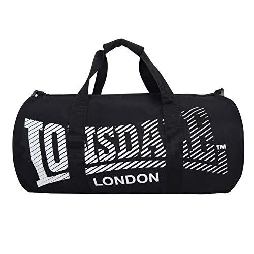 Lonsdale - Bolsa para gimnasio, color negro/blanco, tamaño Talla única
