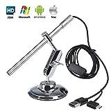 Microscope Numérique USB Endoscope Portable HD 2 en 1 200x loupe Caméra d'inspection étanche IP67 pour OTG Android...