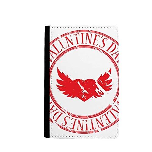 beatChong Alas Día De Tarjeta Monedero Titular del Pasaporte Caso De La Cubierta Cartera De Viaje De Color Rojo Sello Postal De San Valentín