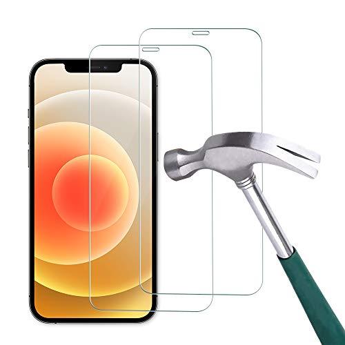 Carantee 2 Stück Panzerglas Schutzfolie Kompatibel mit iPhone 12 Pro Max [6.7 Zoll], HD 9H Festigkeit Schutzglas, Anti-Kratzer Anti-Bläschen Anti-Fingerabdruck 2.5D Rand Einfacher Montage Panzerglasfolie
