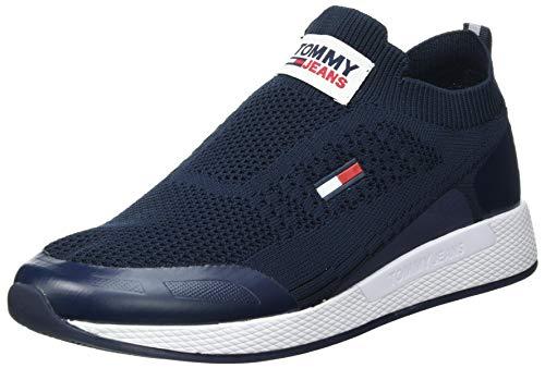 Tommy Jeans Herren Flexi Sock Runner Sneaker, Marineblau (Twilight Navy), 43 EU