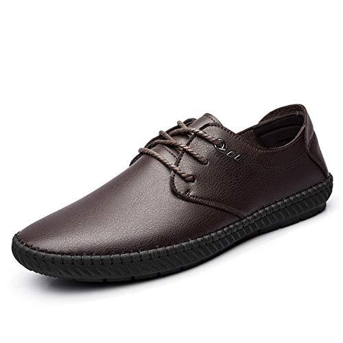 GUYUEXUAN Licht, Qualität Auswahl, Herrenmode Oxford Schuhe Casual Leichte Wohnungen Bootsschuh weiche atmungsaktive Lace-up-Walking-Schuhe, Gute Qualität und komfortablere