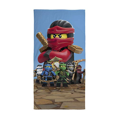 Ninjago Lego Strandtuch Velourstuch 70 x 140cm Duschtuch Badetuch Handtuch 100% Baumwolle Lloyd Kai Zane RED