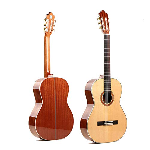 North King - Guitarra acústica clásica de 50 Pulgadas Hecha a Mano con Piano para Adultos