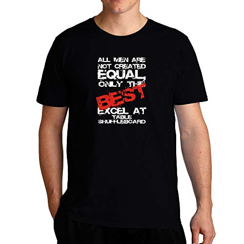 Eddany ONLY The Best EXCEL at Table Shuffleboard T-Shirt L Black