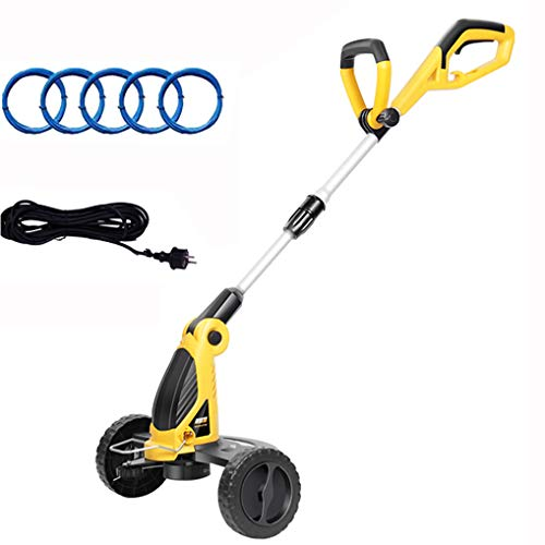 Buy Discount 800W Electric Grass Trimmer with Wheel,Telescopic Handle Weed String Cutter,Cordless Re...
