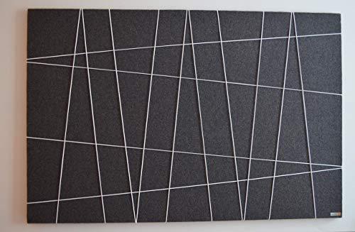 Pinnwand/Korkwand Filz, grau / 120x70cm