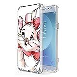 Zhuofan Plus Coque Samsung Galaxy J7 2017, Silicone Transparente avec Motif Design Antichoc Coussin d'air Housse TPU Souple Airbag...
