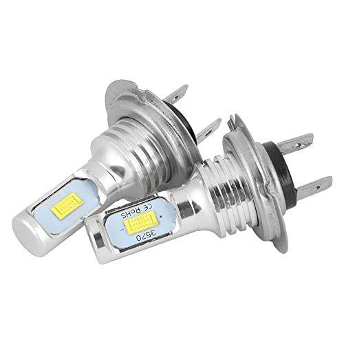 Upgrade Bombillas LED de luz antiniebla Reemplazo de accesorios para automóvil 2 piezas 80W 6000K Universal H7 LED Faros antiniebla LED Bombilla de luz antiniebla LED Blanco 12-24V Reemplazo automotri
