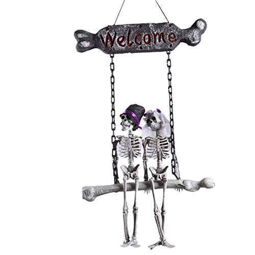 Cduton Halloween Hanging Ghost House Geheime Zimmer Dress Up Anhänger Schädel Requisiten Szene Dress Up Tricky Schädel Spielzeug für Halloween Weihnachtsfeier Dekor Feiertage Aprilscherz Streiche