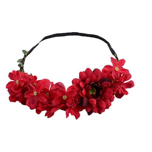 JUNGEN® Diadema de Flor para Mujers Guirnalda de Flores con
