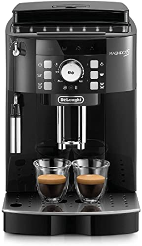 De'Longhi Perfetto Magnifica S ECAM21.110.B Macchina da Caffè Automatica per Espresso e Cappuccino, Caffè in Grani o in Polvere, 1450 W, Nero