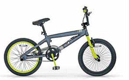 MBM BMX Boost, Bici da Freestyle Unisex Bambini, Lime A44, 20'
