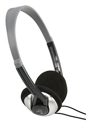 EUROSELL - Leichtbau Kopfhörer TV Fernseher 6 Meter Kabel langes Kabel 6m Stereo Kopfbügel Headphones TV PC HiFi Leichtgewicht Bügel Leichtbügel On Over Ear
