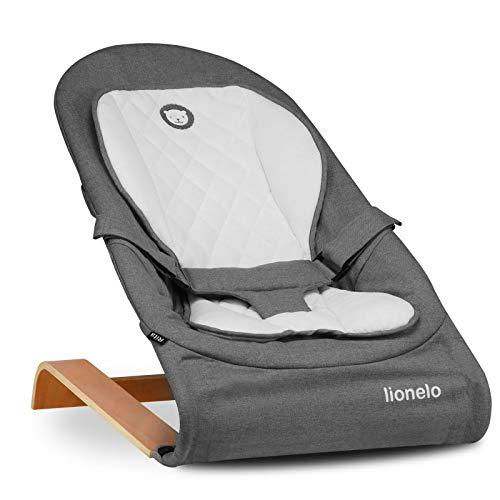 Lionelo Rita Baby Wippe ab Geburt bis 9 kg, Liegeposition, zusammenklappbar, europäische Zertifikat EN 12790