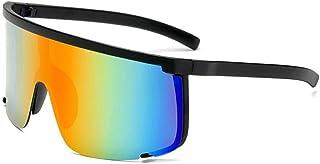 QWKLNRA - Gafas De Sol para Hombre Marco Negro Gradient Lente Polarizado Gafas De Sol Deportivas A Prueba De Viento Gafas De Sol Deportivas para Hombre Moto Ciclismo Gafas De Sol Moda Ciclismo Al Aire