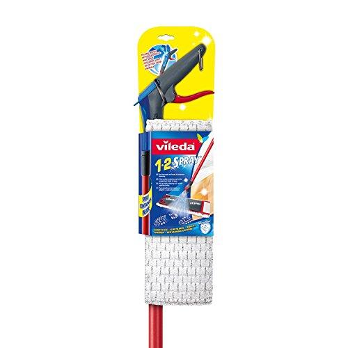 Vileda 1-2-Spray Bodenwischer mit integriertem Sprütank im Stiel Bodenwischer