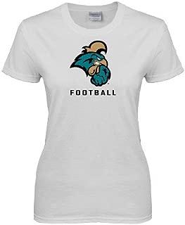 CollegeFanGear Coastal Carolina Ladies White T Shirt 'Football'