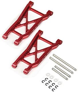 Atomik RC Traxxas Robby Gordon Dakar 1:10 Aluminum Alloy Rear Lower Arm Hop Up Upgrade, Red Replaces Traxxas Part 2555