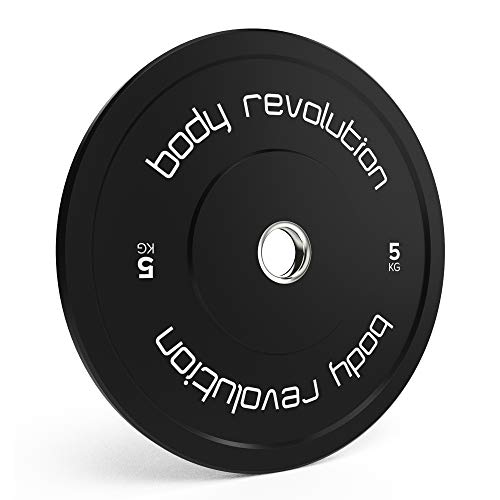 Photo of Body Revolution Olympic Bumper Weight Plates – 2 Inch Rubber Barbell Weights for Weightlifting and Strength Training – Range of Weight Variations Sold Separately (5kg single)