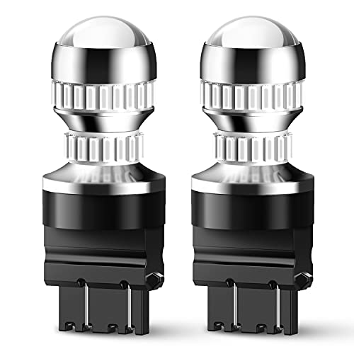 AUXITO LED Tail Light Bulb 3157 3156 3056 3057 3047 4057 4157 LED Bulbs for Stop Brake Tail Light, Brilliant Red (Pack of 2)