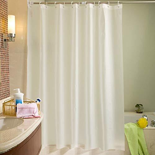300 x 200cm Duschvorhang Anti-Schimmel Wasserdicht Badvorhang Duschvorhänge mit 12 Duschvorhangringe für Badezimmer (Weiß, 300 x 200cm)