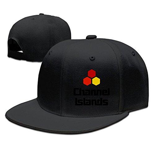 Fairyland 男女兼用 チャンネルアイランド サーフボード 平らつば 野球帽 BBキャップ ヒップホップ ブラック One Size