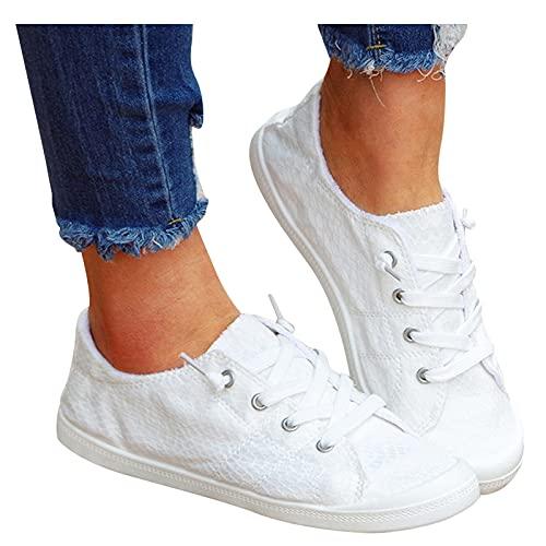 koperras Laufschuhe Atmungsaktiv Turnschuhe für Damen Canvas Sneakers Walkingschuhe Wanderschuhe Joggingschuhe Leichtgewicht Straßenlaufschuhe Running Shoes Freizeitschuhe Tennisschuhe