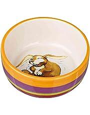 Trixie 60803 miska ceramiczna, królik, 250 ml/ø 11 cm, kolorowy/kremowy