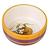 Trixie 60803 Ceramic Rabbit Bowl 250 ml Diameter 11 cm Multi-Coloured / Cream