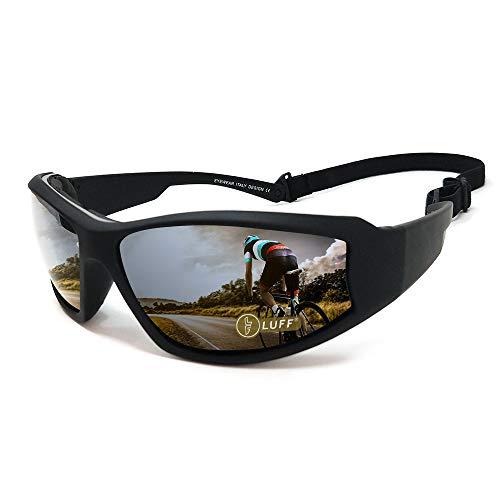 LUFF Gafas de sol de los vidrios de montar al aire libre UV400 para proteger los ojos del resplandor, convenientes para el funcionamiento que completa un ciclo pesca Golf del esquí (Black)