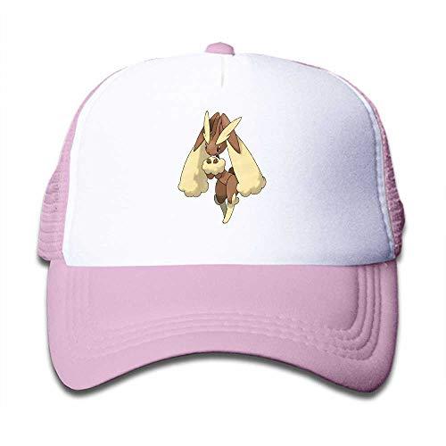 MWHprint Children's Trucker Hats for Boys&Girls Cool Adjustable Kids Cap, Pokemon Lopunny, Pink