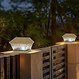 Solar Post Lights Warm White LED Light Waterproof 6-Pack for Outdoor Garden