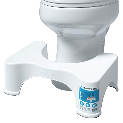 Squatty Potty The Original Bathroom Toilet Stool, 7' height, White, 7 Inch