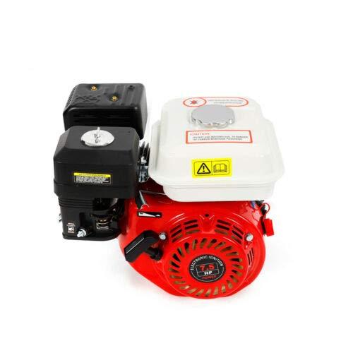 Aohuada Motor de gasolina, 7,5 HP, 4 tiempos, OHV, motor de gasolina, 5,1 kW, 3600 rpm, motor de estacionamiento, motor de kart, con alarma de aceite