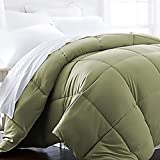 Beckham Hotel Collection 1600 Series - Lightweight - Luxury Goose Down Alternative Comforter - Hotel Quality Comforter - Twin/Twin XL - Olive