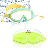 Occhialini da Nuoto per Bambini, Occhialini Unisex - Bambini con 2 Earplugs, Occhialini Piscina Professionali, Lenti Appanamento & Protezione UV con Cinturini Regolabili per Bambini da 3 a 12 Anni