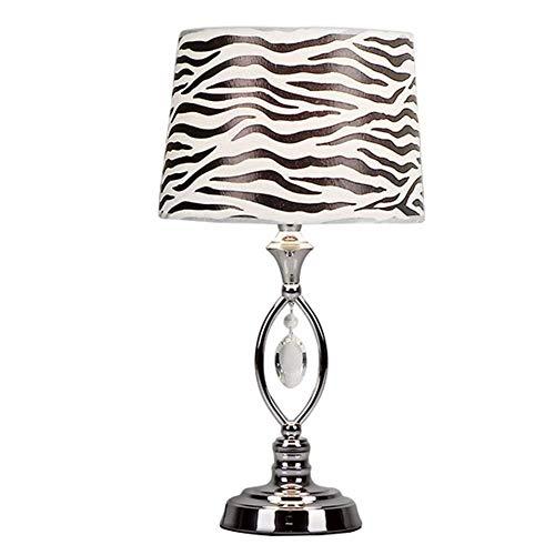 AJZGF Lámpara de Mesa Decorativa Lámpara de Mesa de Cristal Moderna Simple, lámpara de Mesa roja Personalizada de la Boda romántica Personalizada Lámpara de Mesa (Color : Zebra Pattern, Design : B)