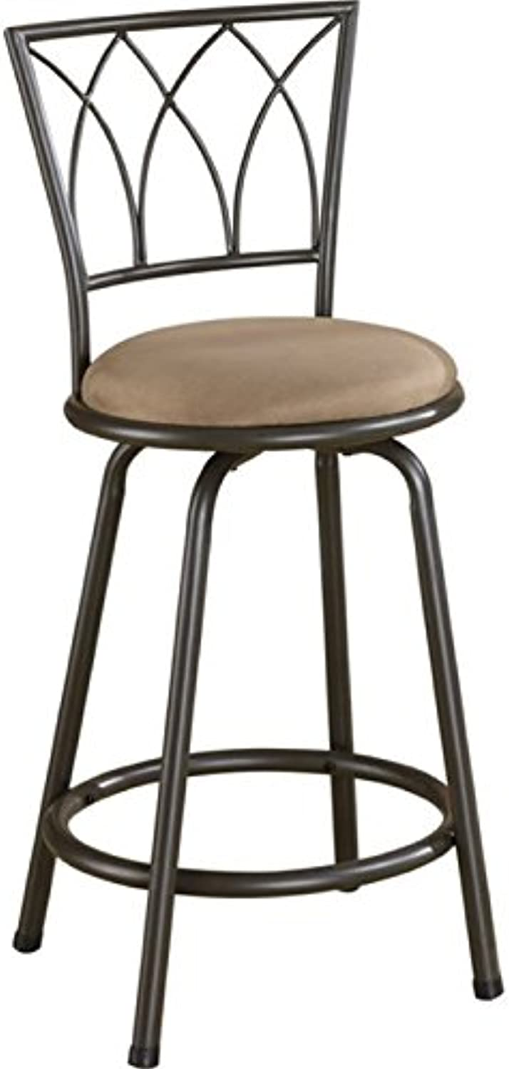 Bowery Hill 24  Metal Counter Stool in Black and Brown