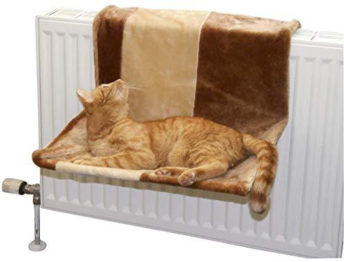 Kerbl 82590 Katzenhängematte Paradies, Groß 50 x 35 cm, Beige/Braun