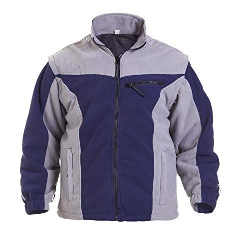 Hydrowear 04026016 F Klagenfurt Polar Polaire pour homme, 100% polyester, grande taille, Bleu marine/gris