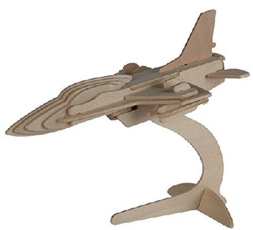 Out of the blue - Puzzle Bois 3D Avion F-16 – 13 x 19 cm