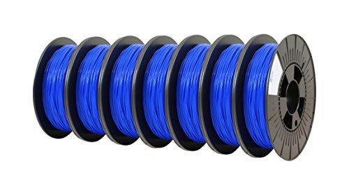 ICE FILAMENTS ICE7VALP080 Lot de 7 filaments Flex 1,75 mm 0,50 kg Bleu foncé