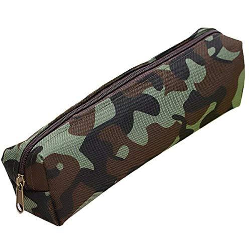 Trousse à crayons de camouflage SenRise, grande capacité, portable, fermeture éclair, sac de papeterie pour étudiant, bureau, fournitures scolaires, 21 x 5,5 cm